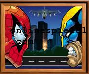 Sort my tiles Spider and Wolverine Spiderman online spiele